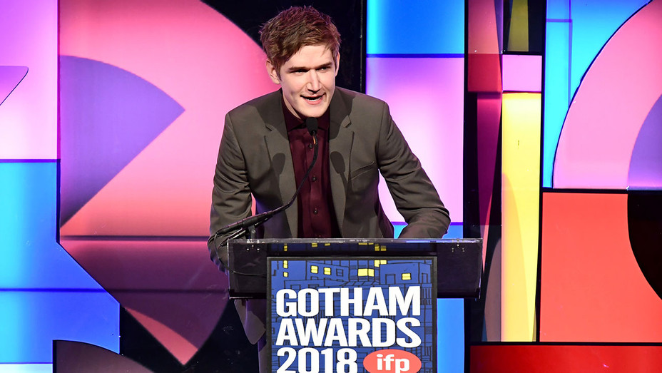 Bo Burnham speaks onstage during IFP's 27th Annual Gotham Independent Film Awards - Getty-H 2018