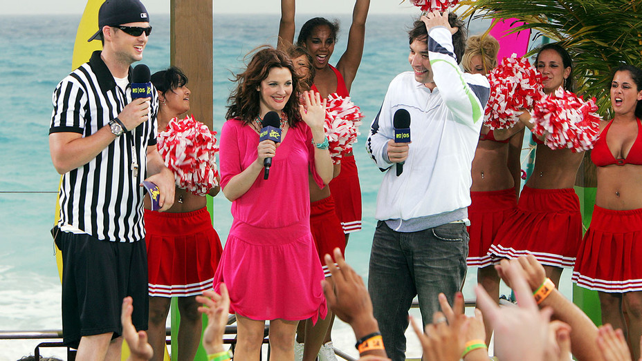 MTV Spring Break 2005- Jimmy Fallon and actress Drew Barrymore - Getty-H 2018
