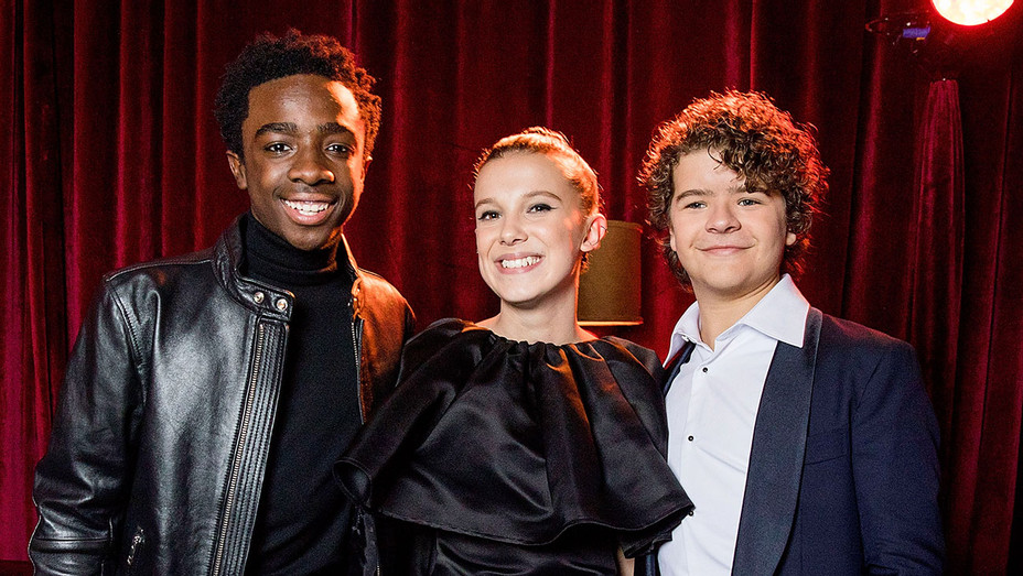 Netflix Golden Globes after party -Caleb McLaughlin, Millie Bobby Brown and Gaten Matarazzo - Netflix- Getty-H 2018