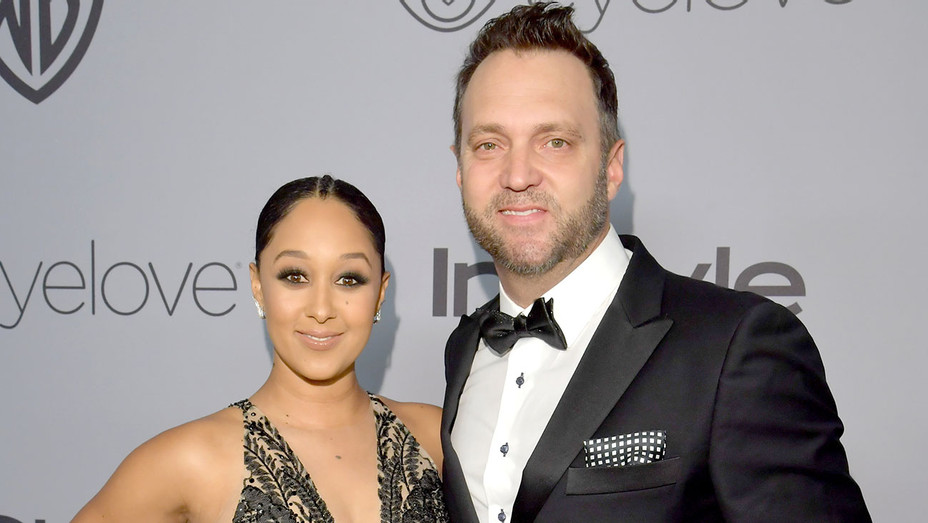 Tamera Mowry-Housley and Adam Housley attend 19th Annual Post-Golden Globes Party  -Getty-H 2018