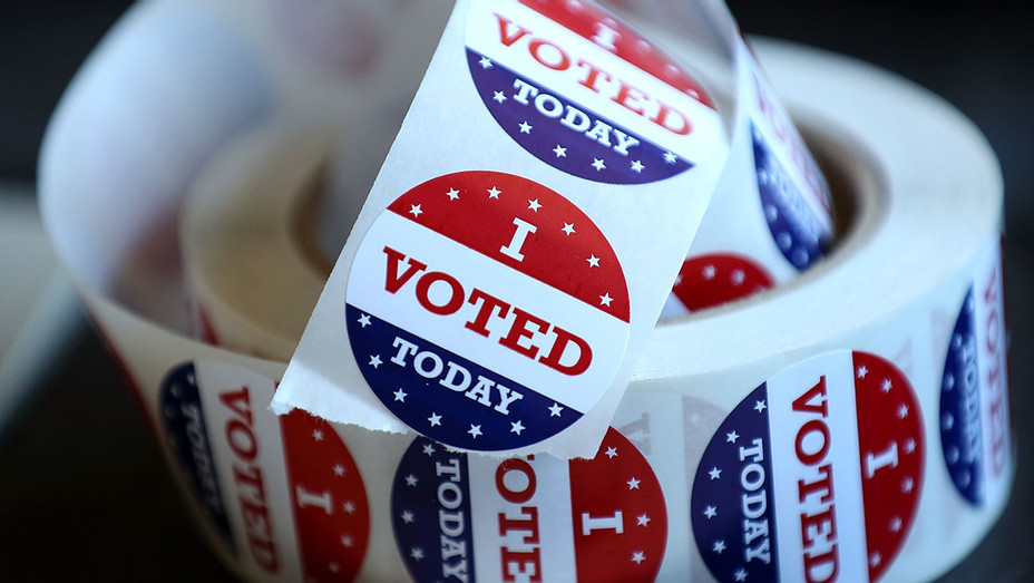 Polling places around CA 2- I Voted stickers- Getty - H 2018