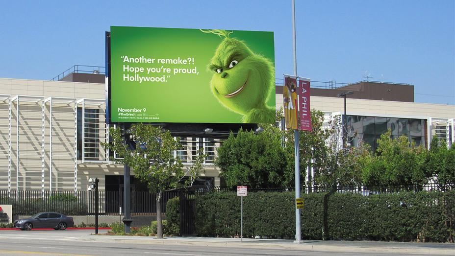 Grinch remake billboard - H Publicity 2018