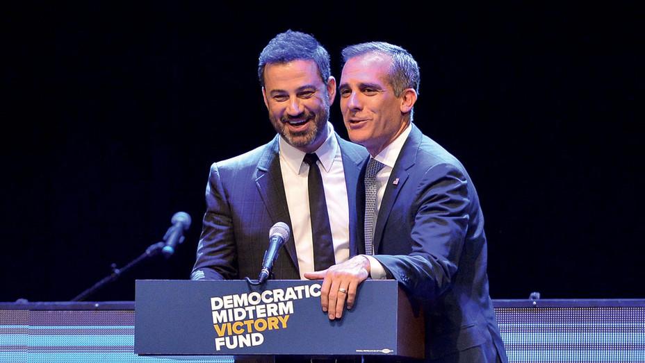 Jimmy Kimmel_ Eric Garcetti - Getty - H 2018