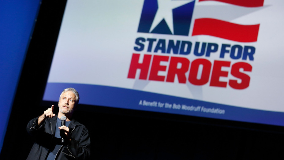 Jon Stewart at The New York Comedy Festival and The Bob Woodruff Foundation Stand Up For Heroes - Getty - H 2018