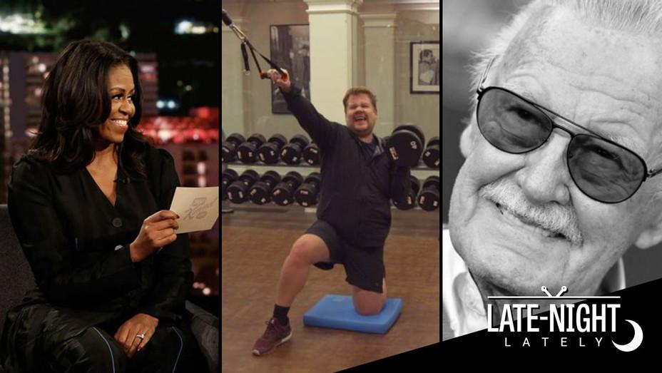 Late Night Lately-Michelle Obama-James Corden-Stan Lee-Split-H 2018