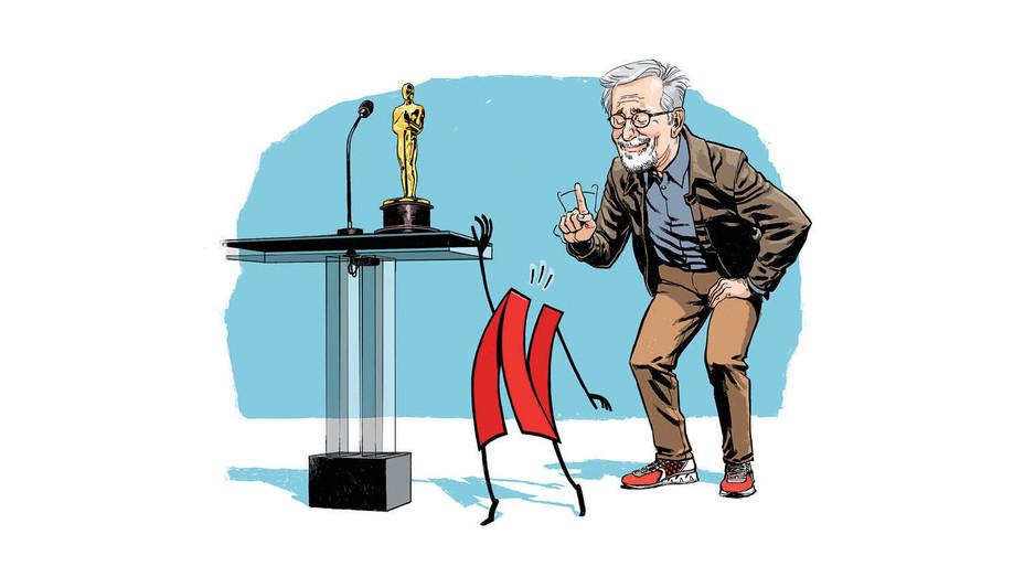 Will the Academy Shun Netflix - Illustration by Laemeur - Splash 2018