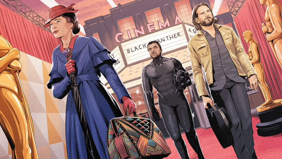 Mary Poppins_Black Panther_A Star is Born_Oscars_Illo - THR - H 2018