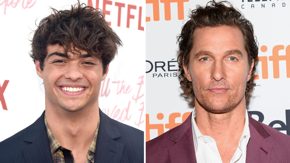 Noah Centineo Matthew McConaughey - Getty - H Split 2018
