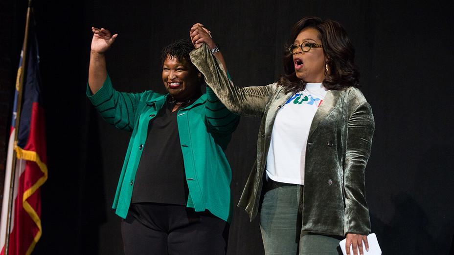 Stacey Abrams and Oprah Winfrey - H Getty 2018