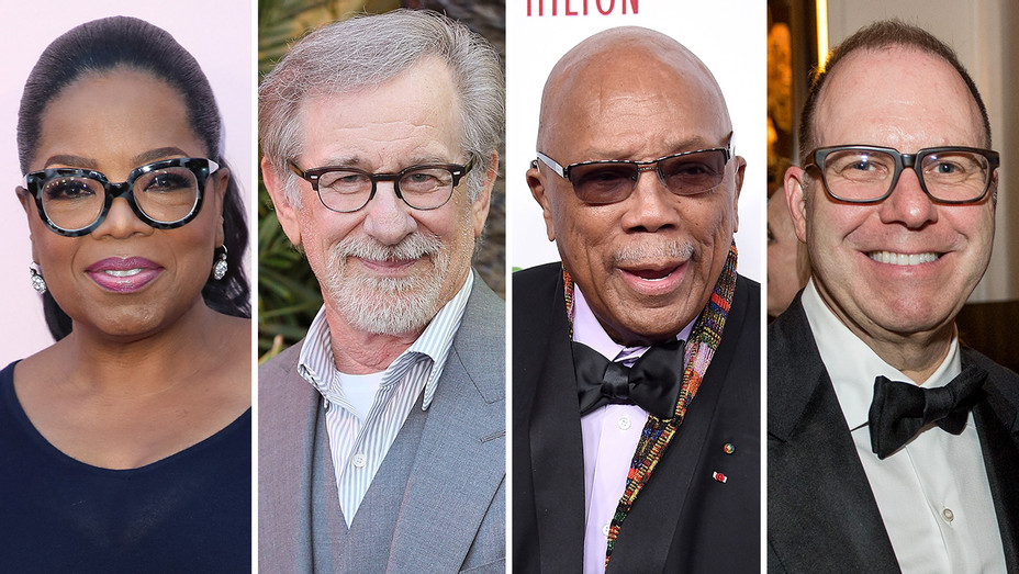 Oprah, Spielberg, Quincy JOnes and Scott Sanders,_Split - Getty - H 2018