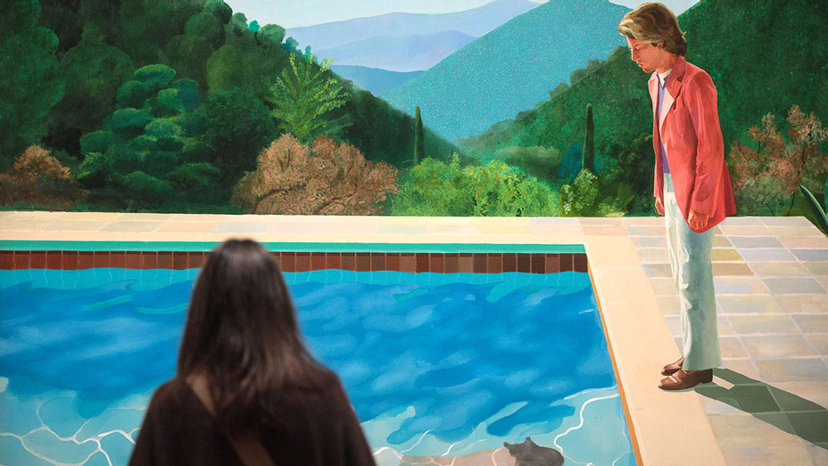 Painting of an Artist (Pool with Two Figures)-Getty-H 2018