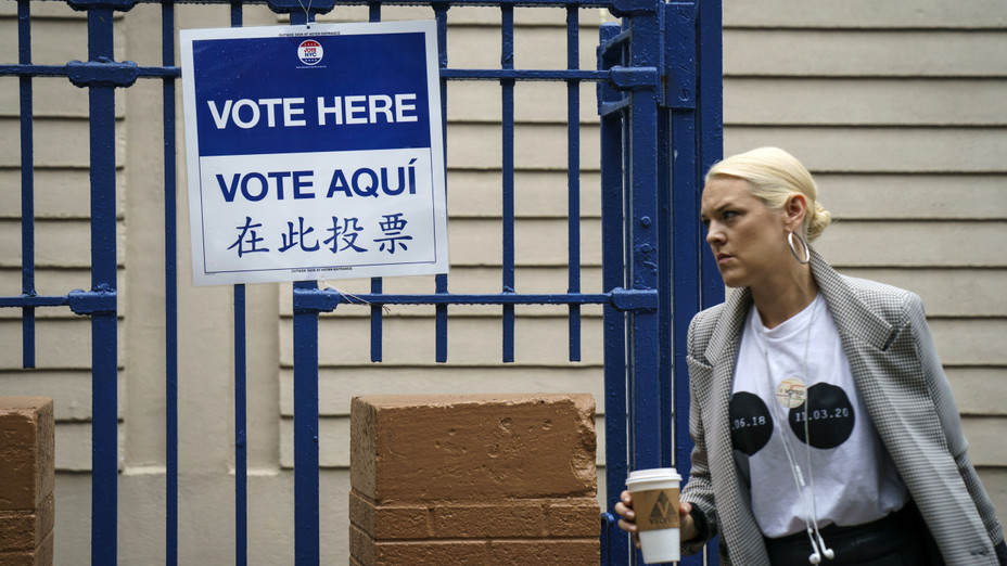 Polling Station in NYC - Getty - H 2018
