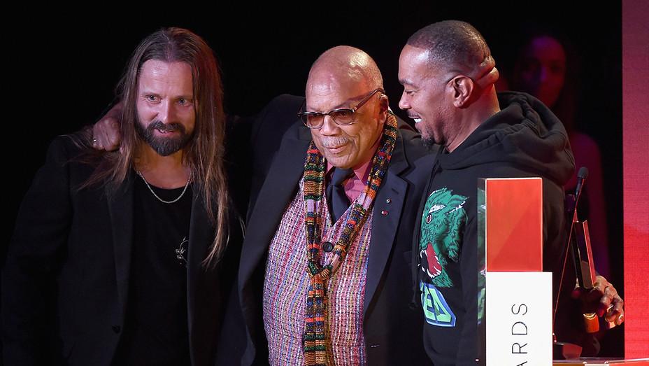 Max Martin, Quincy Jones, Timbaland at Spotify's Secret Genius Awards - H Getty 2018