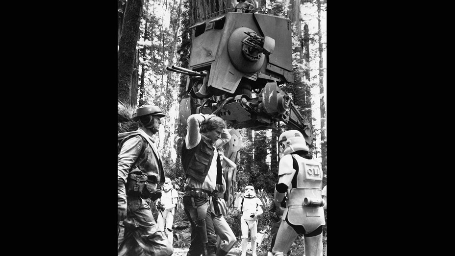 Star Wars Episode VI - Return of the Jedi (1983) Harrison Ford and An AT-ST as seen in Return of the Jedi- H 2018
