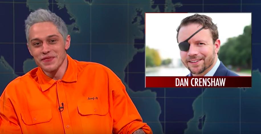 'SNL' Pete Davidson Dan Crenshaw - H 2018 Screengrab