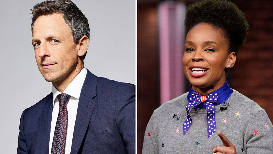 Seth Meyers and Amber Ruffin - Split-Publicity-H 2018