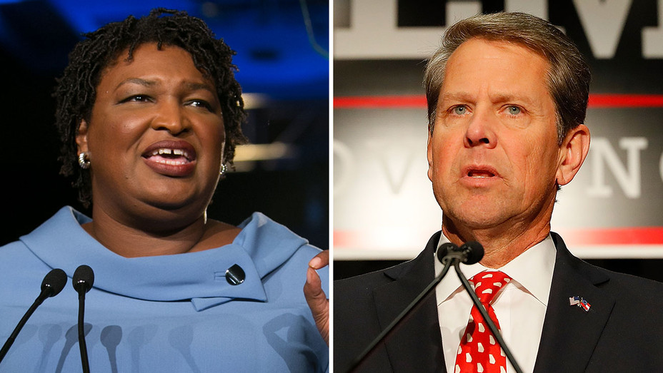 Stacey Abrams and Brian Kemp - Split-Getty-H 2018