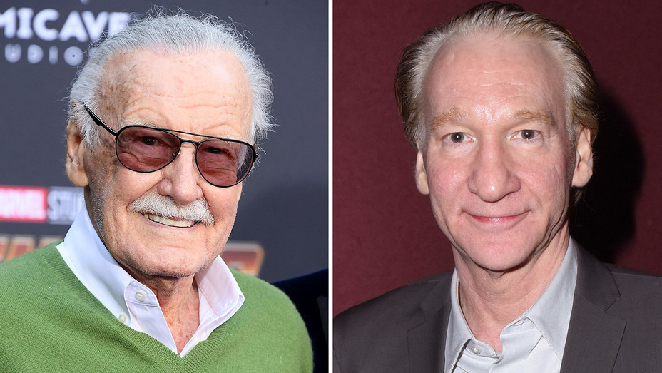 Stan Lee and Bill Maher_Split - Getty - H 2018