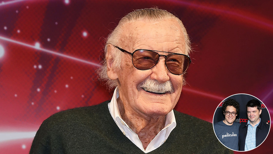 Stan Lee and inset of  Phil Lord and Christopher Miller - Getty-H 2018
