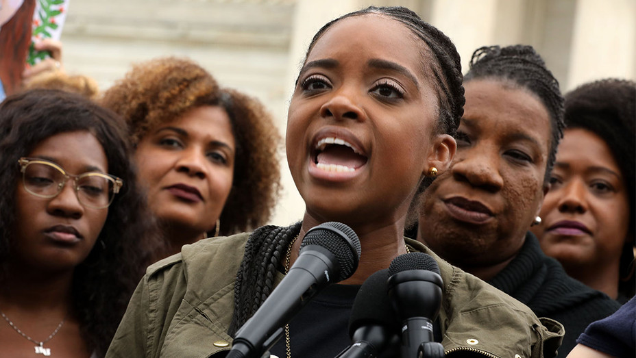 Tamika Mallory-In Support Of Christine Blasey Ford-Getty-H 2018