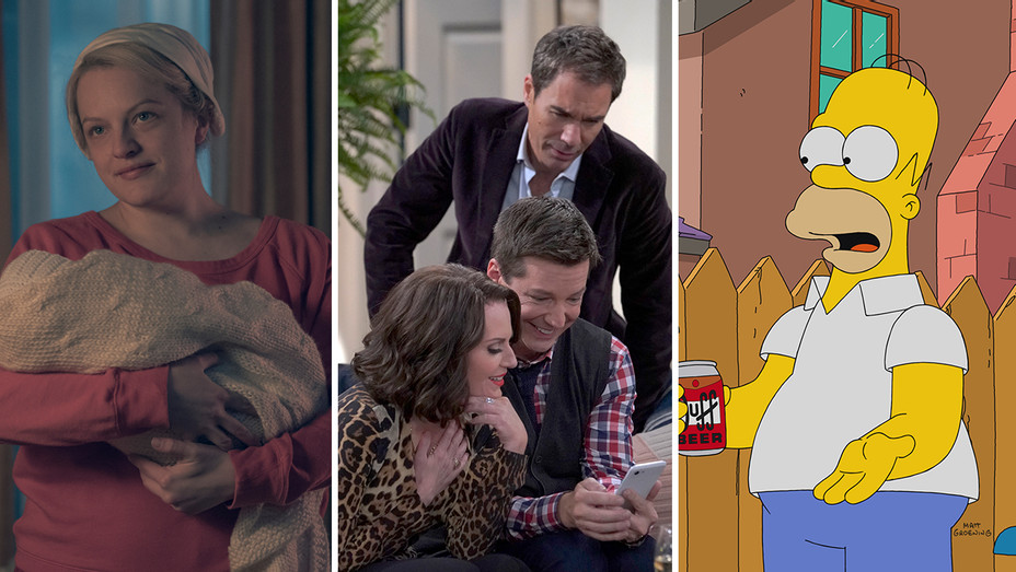 The Handmaids Tale, Will & Grace and The Simpsons_Split - Publicity - H 2018