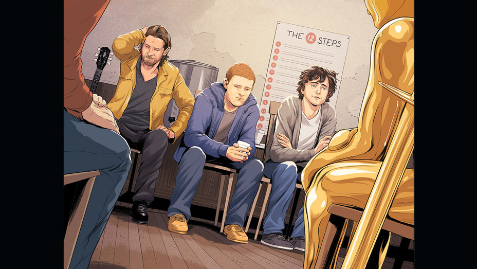 THR Illustration -When the Oscars Join My Recovery Group-THR-QP-AA-Oscras-Supply-H 2018