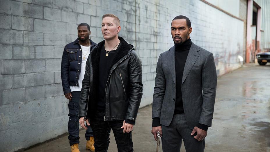Power - Starz - Tommy's Warehouse; Kanan (Curtis 50 Cent Jackson); Jamie 'Ghost' St. Patrick (Omari Hardwick); Tommy Egan (Joseph Sikora). - Publicity-H 2018