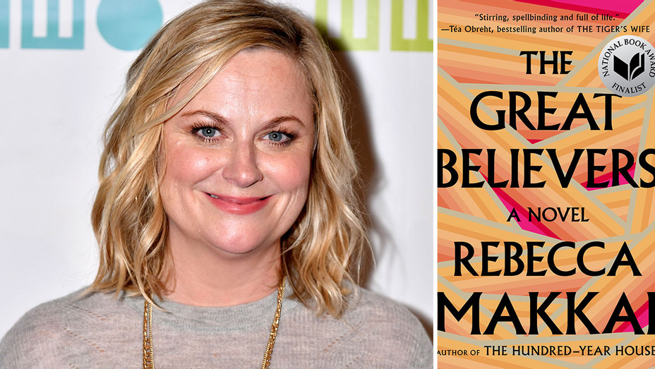 Amy Poehler and The Great Believers book cover -Split-H 2018