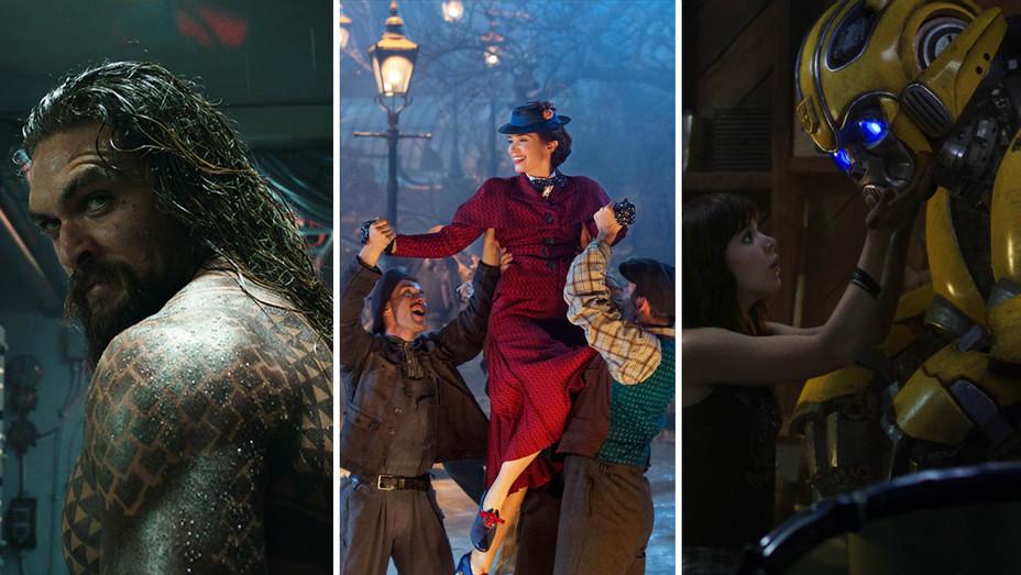 Aquaman Mary Poppins Returns Bumblebee - Photofest - H Split 2018