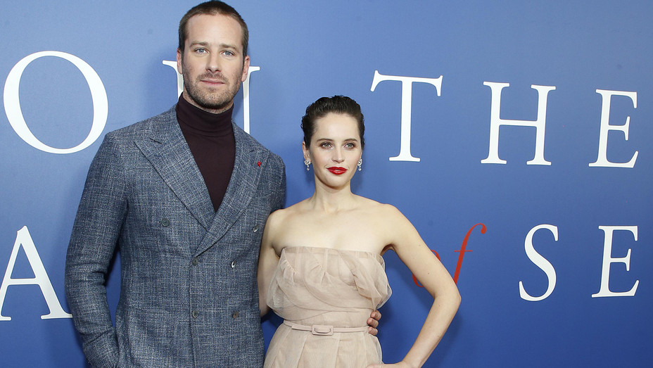 Armie Hammer and Felicity Jones at On the Basis of Sex Premiere - Getty - H 2018