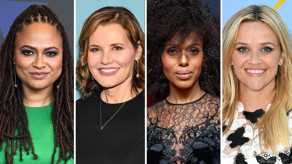 Ava DuVernay Geena Davis Kerry Washington and Reese Witherspoon - Getty - H Split 2018