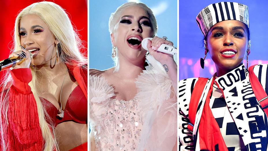 Cardi B, Lady Gaga and Janelle Monae - Split-Getty-H 2018