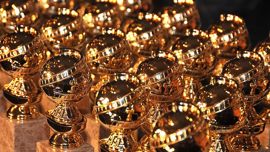 Golden Globe statuettes are on display - Getty-H 2018