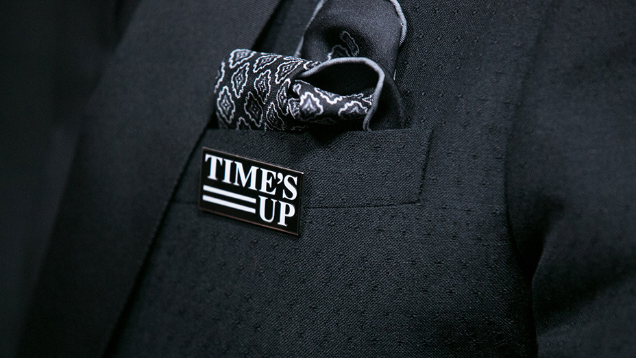 Gary Oldman time's up pin detail - Getty - EMBED 2018