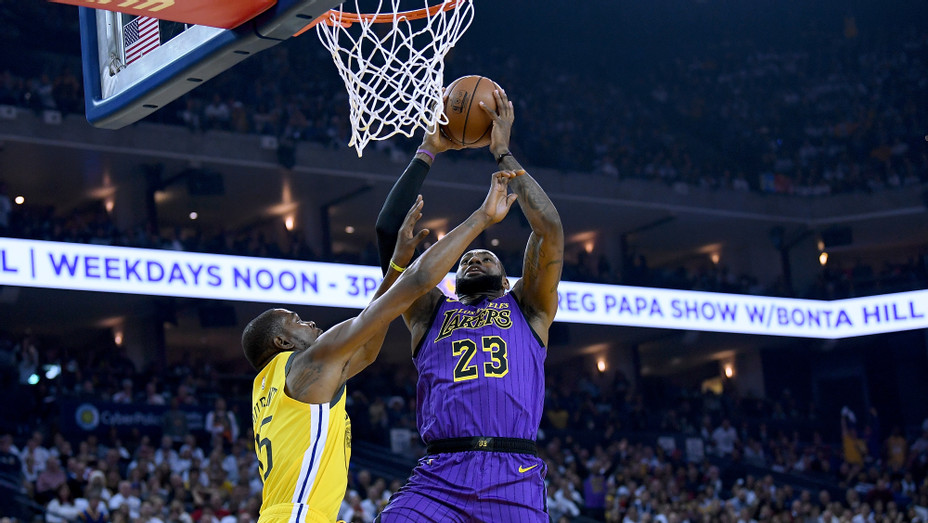 Lakers Warriors LeBron James Getty 2018 - H