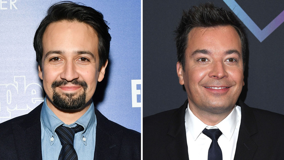 Lin-Manuel Miranda and Jimmy Fallon - Getty - H Split 2018
