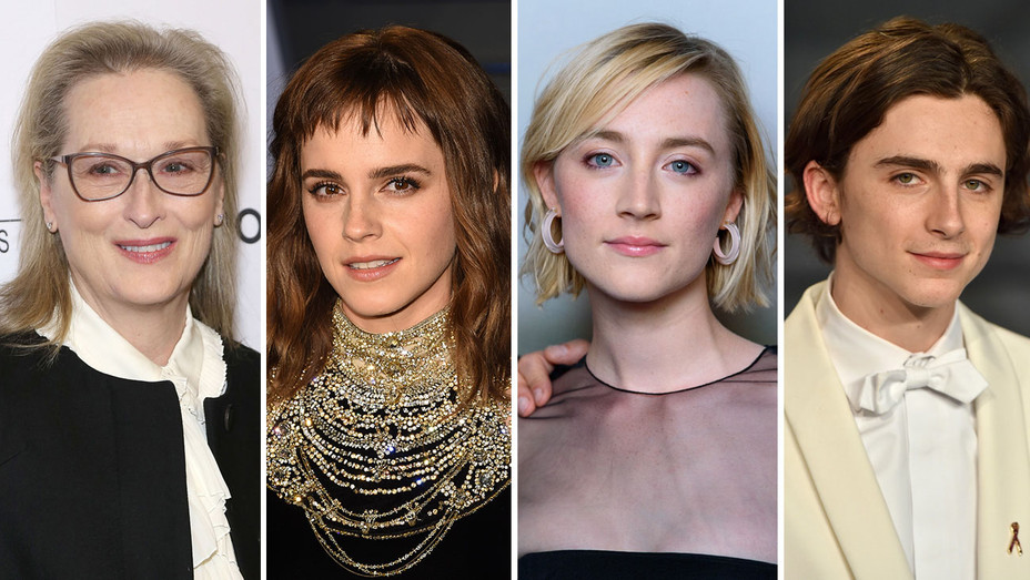 Meryl Streep, Emma Watson, Saoirse Ronan and Timothee Chalamet-Getty Images-Split-H 2018