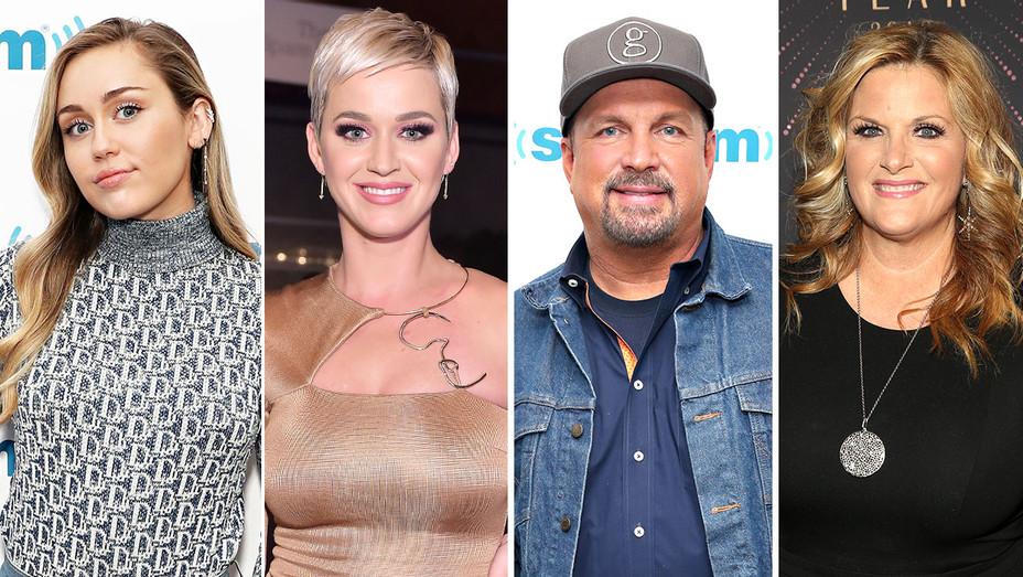 Miley Cyrus-Katy Perry-Garth Brooks -Trisha Yearwood-Split-Getty-H 2018
