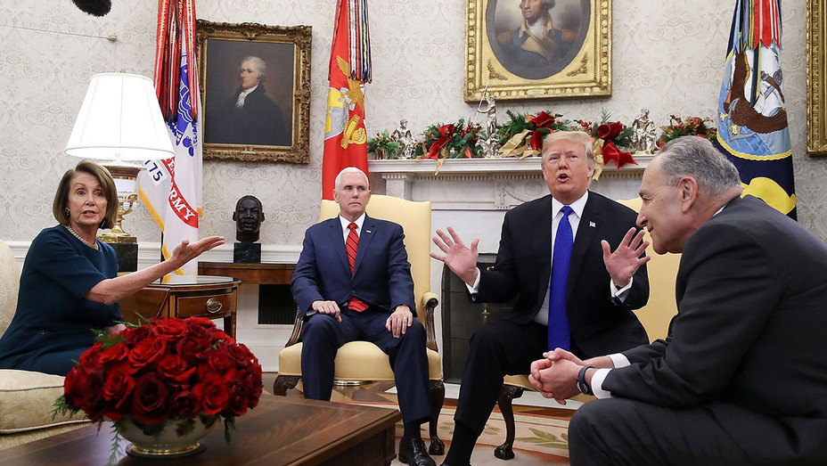 President Trump Meets With Nancy Pelosi And Chuck Schumer At White House-Getty-H 2018