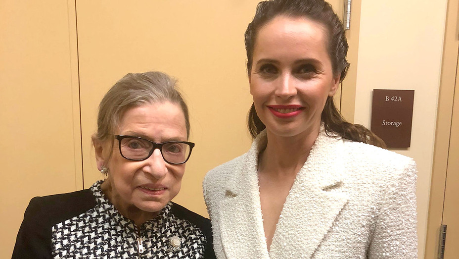 Ruth Bader Ginsburg and Felicity Jones- Rogers & Cowan Publicity-H 2018