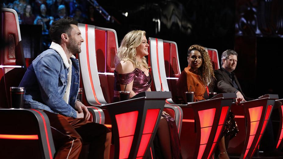 The Voice-Adam Levine-Kelly Clarkson-Jennifer Hudson-Blake Shelton-Publicity Still-H 2018
