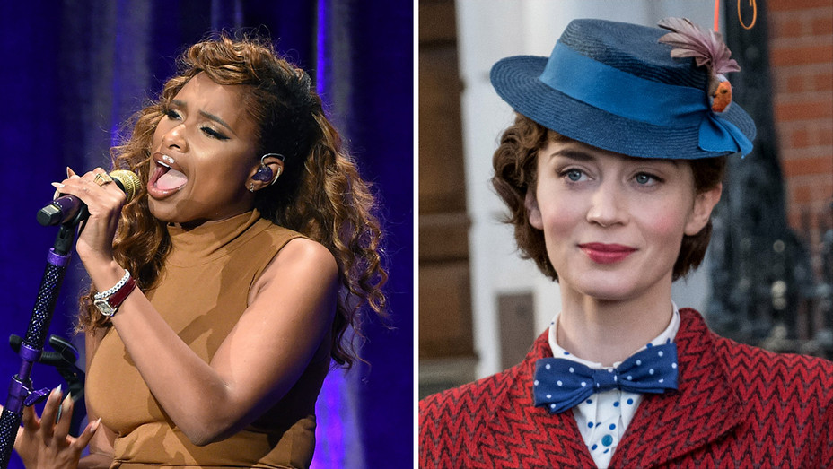 Jennifer Hudson performing-Emily Blunt as Mary Poppins-Getty-Publicity-Split-H 2019