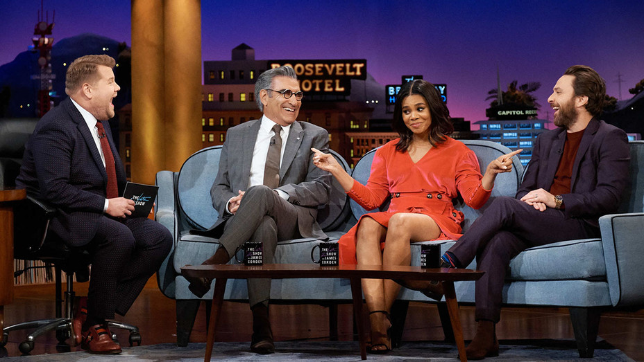 The Late Late Show with James Corden - January 29, 2019 - Eugene Levy, Regina Hall, and Charlie Day- H 2019