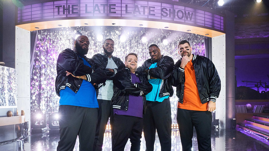 The Late Late Show with James Corden - NFL Big Man Dance Crew sketch January 20, 2019- Publicity-H 2019