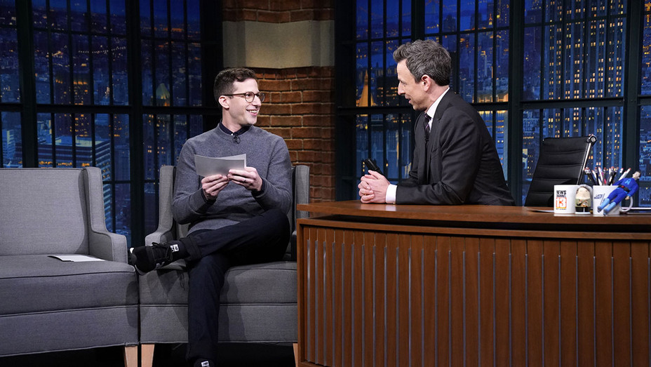 LATE NIGHT WITH SETH MEYERS -Andy Samberg-Publicity-H 2019