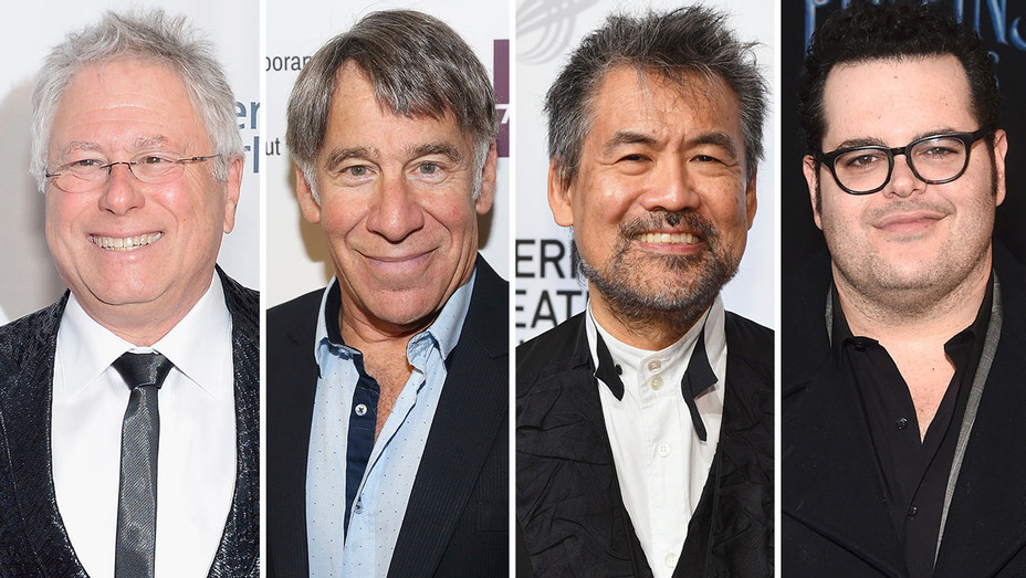 Alan Menken, Stephen Schwartz, David Henry Hwang, Josh Gad-Split-Getty-H 2019