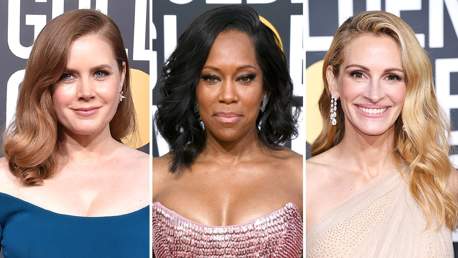 New-Amy Adams-Regina King-Julia Roberst-Golden GLobes hair-Split-Getty-H 2019