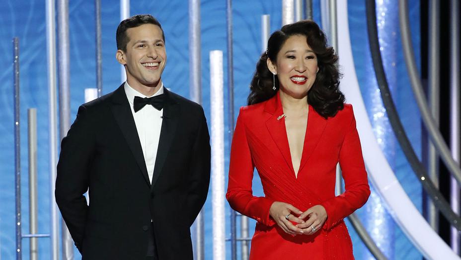 Andy Samberg-Sandra Oh-Golden Globes-Getty-H 2019
