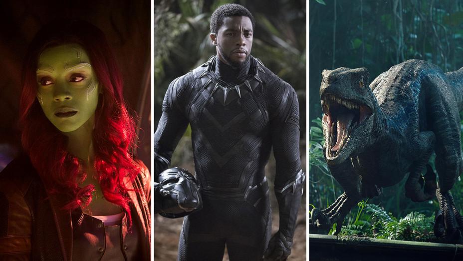 Avengers Zoe- Infinity War, Black Panther and Jurassic World- Fallen Kingdom- Split-Photofest-H 2018