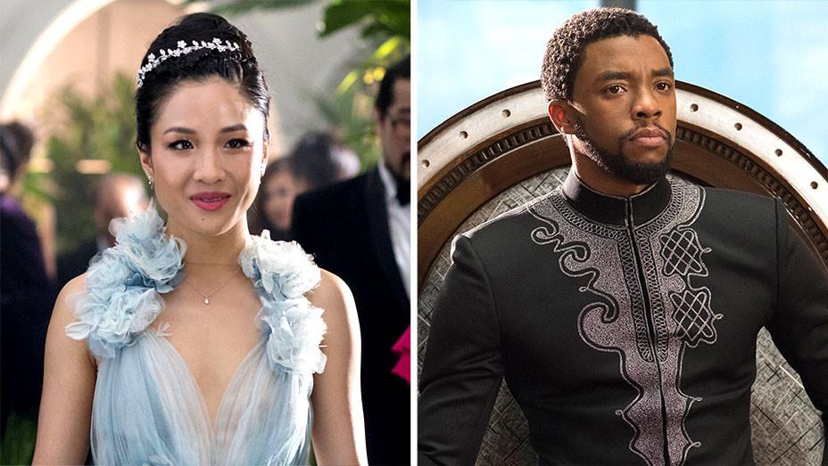 Crazy Rich Asians-Black Panther-Publicity Stills-Split-H 2018